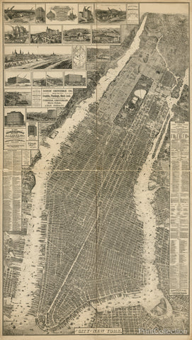 The City of New York Map, 1879