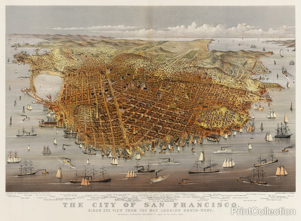 The City of San Francisco, Bird's Eye View
