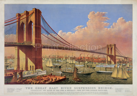 The Great East River Suspension Bridge