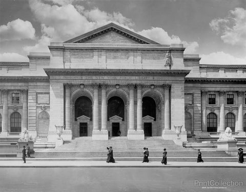 The New York Public Library building around 1910