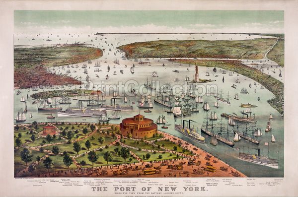 The Port of New York-Birds eye view