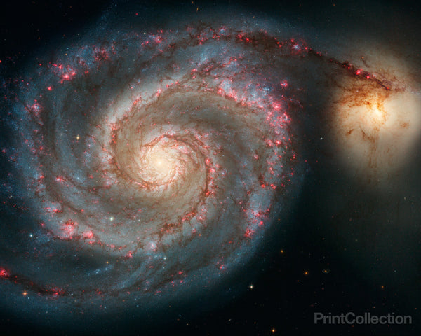 The Whirlpool Galaxy (M51) and Companion Galaxy