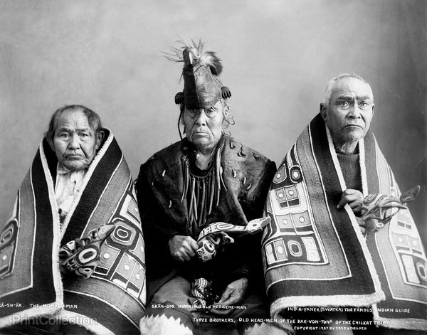 Three Brothers, Old Head-Men of the Kak-Von-Tons of the Chilkat Tribe