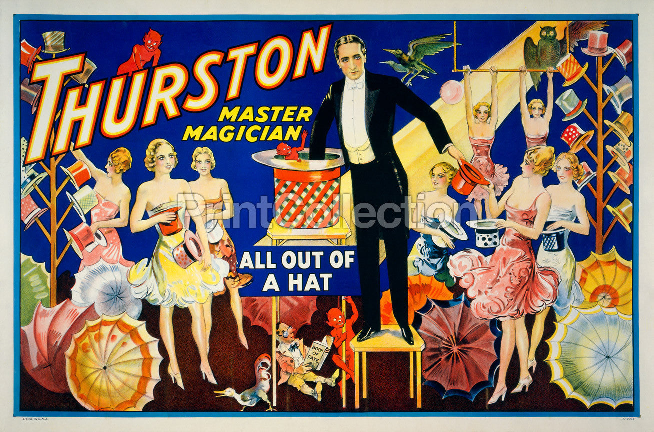 1910 Alexander Crystal Seer Magician Magic Vintage Poster Reproduction 18x24