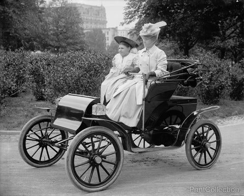 Unidentified Woman in Auto around 1910