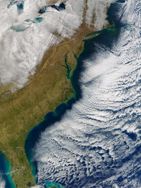 US North East Coast,Snowy to the North and West