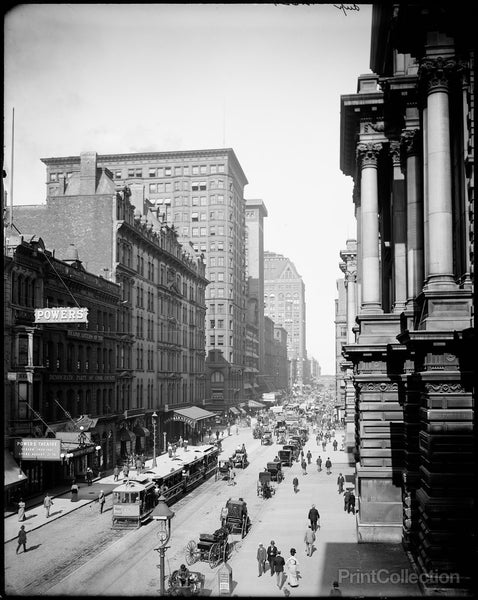 View of Randolph Street East from LaSalle Street, Chicago