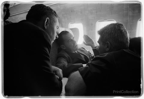 V.P. Nixon and Press on Plane, U.S.S.R.