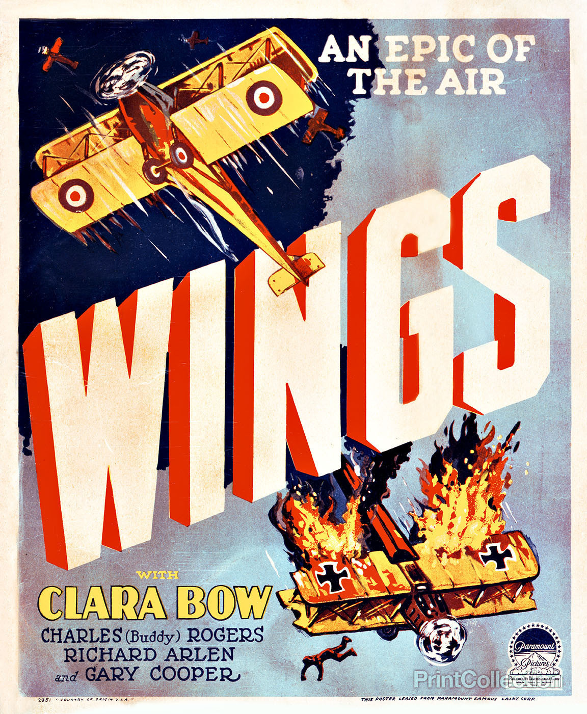 print collection wings movie poster