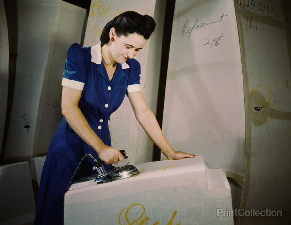 Worker on Self-Sealing Gas Tanks, Goodyear, Akron, Ohio