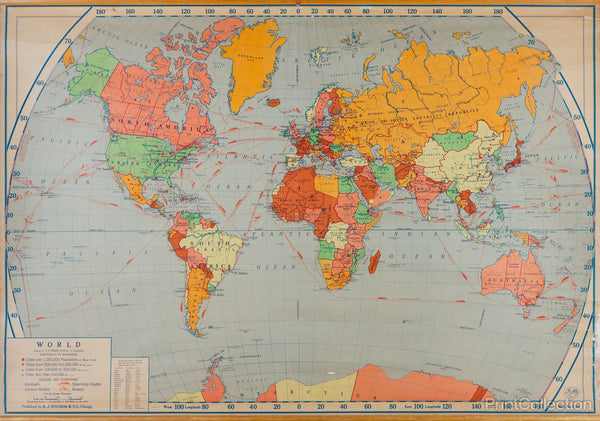 World Map 1953
