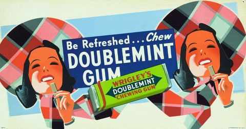 Wrigley's Double Mint Gum: Be refreshed . . .