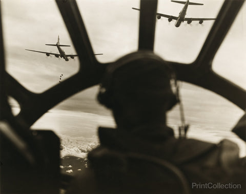 WWII B-29 Superfortresses High over Malaysia