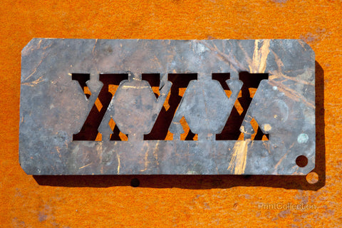 XXX Copper Type Stencil