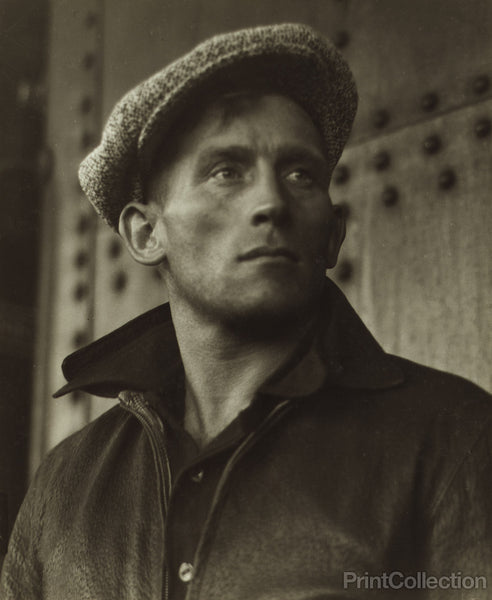 Young Man Wearing Cap, by Dorothea Lange