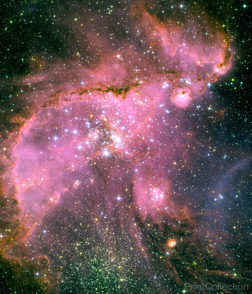 Young Stars in Small Magellanic Cloud