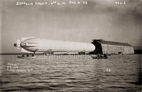 Zeppelin Airship From Water