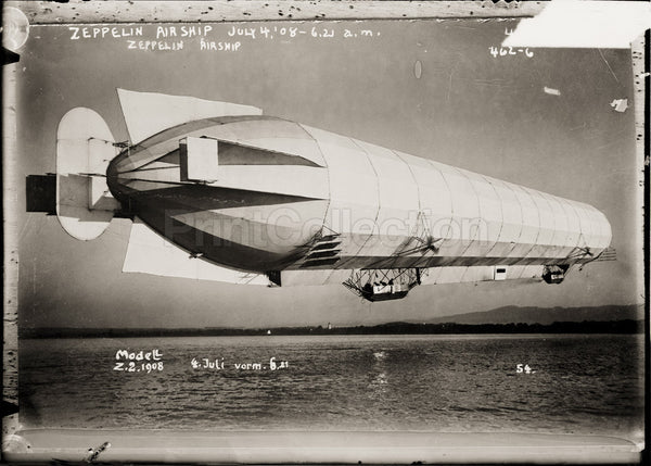 Zeppelin Airship in Flight