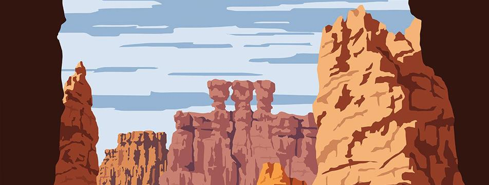 <b>SEE AMERICA, CLASSIC TRAVEL REIMAGINED</b><span class='subhead'>10 Beautiful Posters of National Parks by Steven Thomas </span>