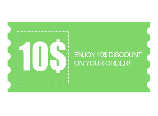 Get a 10 dollars discount coupon :)