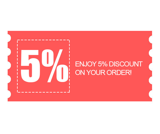 5% Special discount for order now.