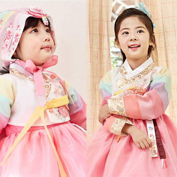 Here is a korean traditional dress.  It's called Hanbok.