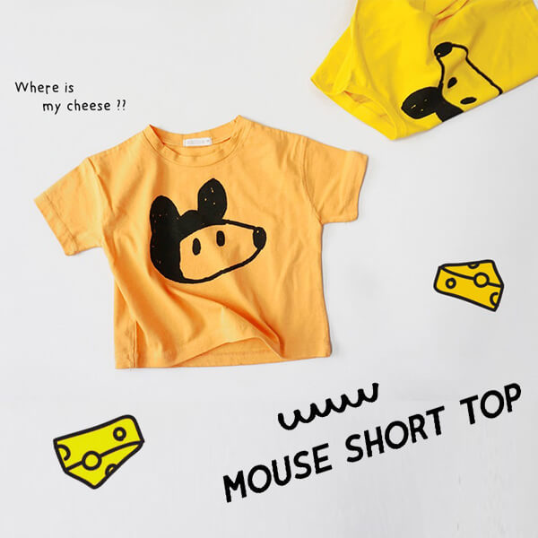 Mouse Face Summer Short Sleeves