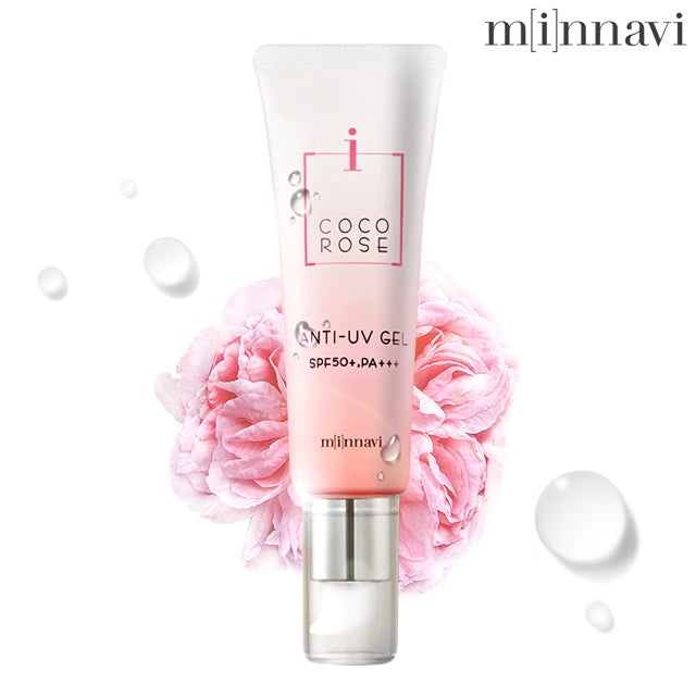 MINAVI COCOROSE GIFT SET - facial cream, eye contour, form cleanser, anti-UV gel, hydrating cream