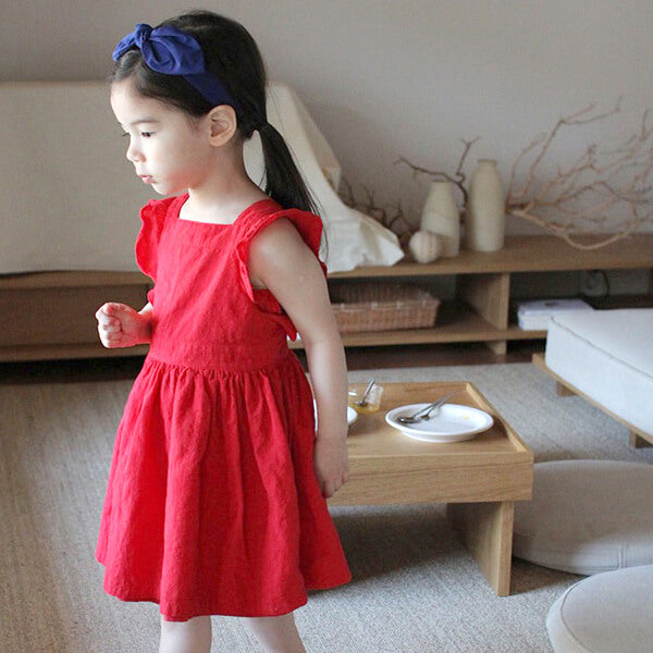 cool and cozy summer sleeveless dress for girls