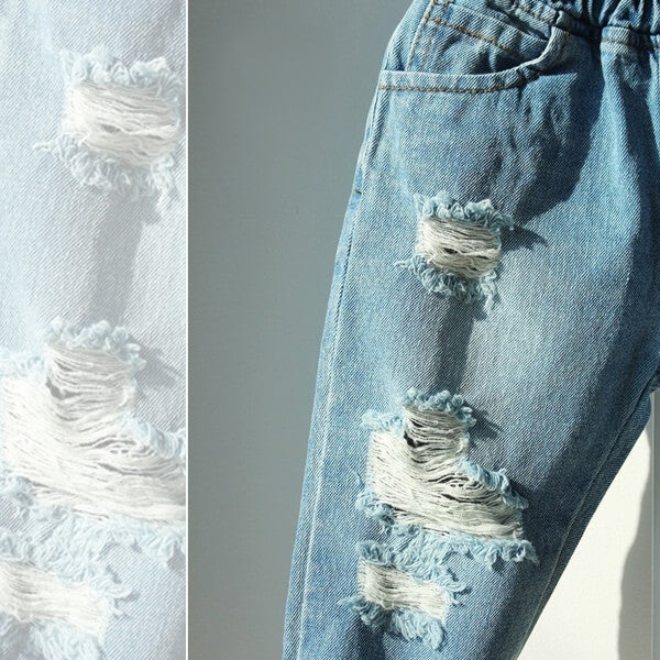 destroyed denim jeans for kids