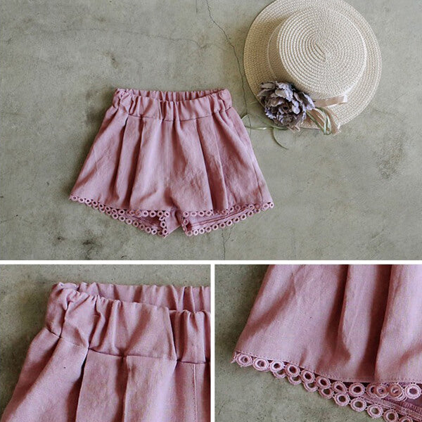 pink short pants for girls