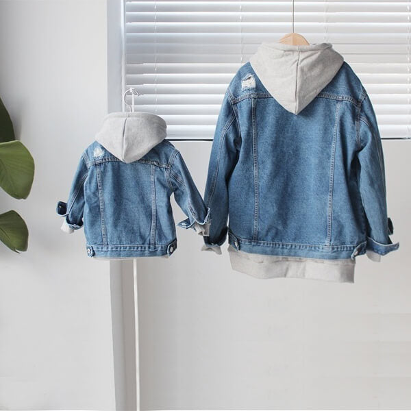 family denim jacket for fall and summer fashion