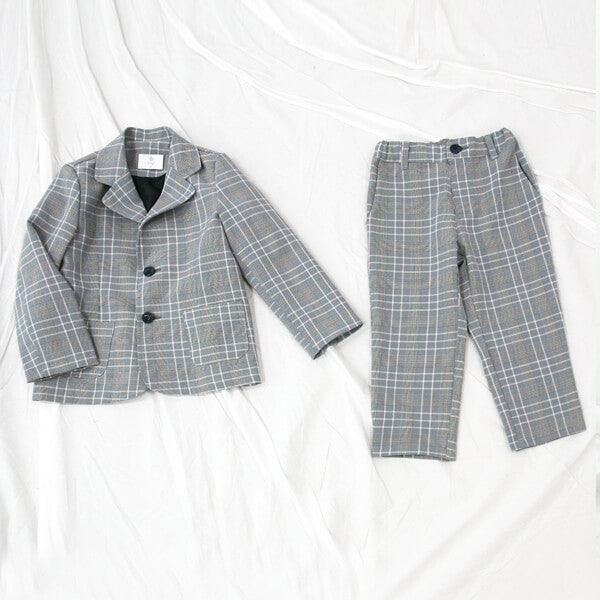 wedding check pattern suit