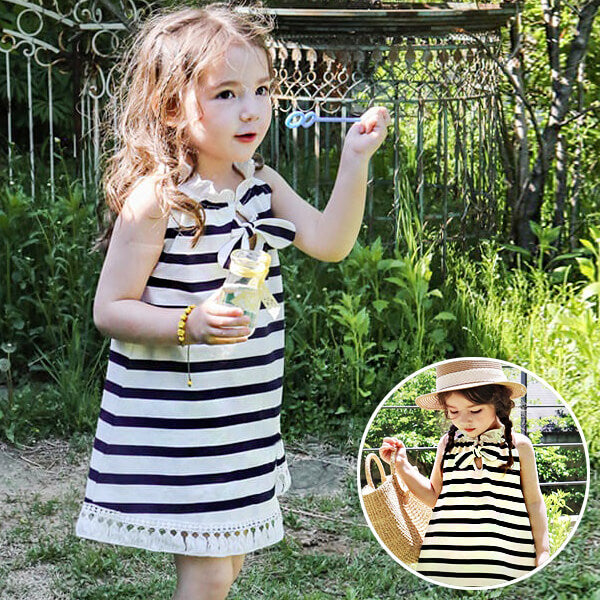 flo summer sleeveless dress for girls