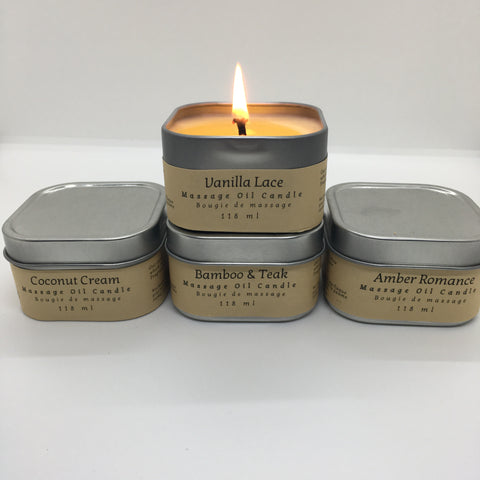 Massage Candles - set of 4 different scents (free shipping)