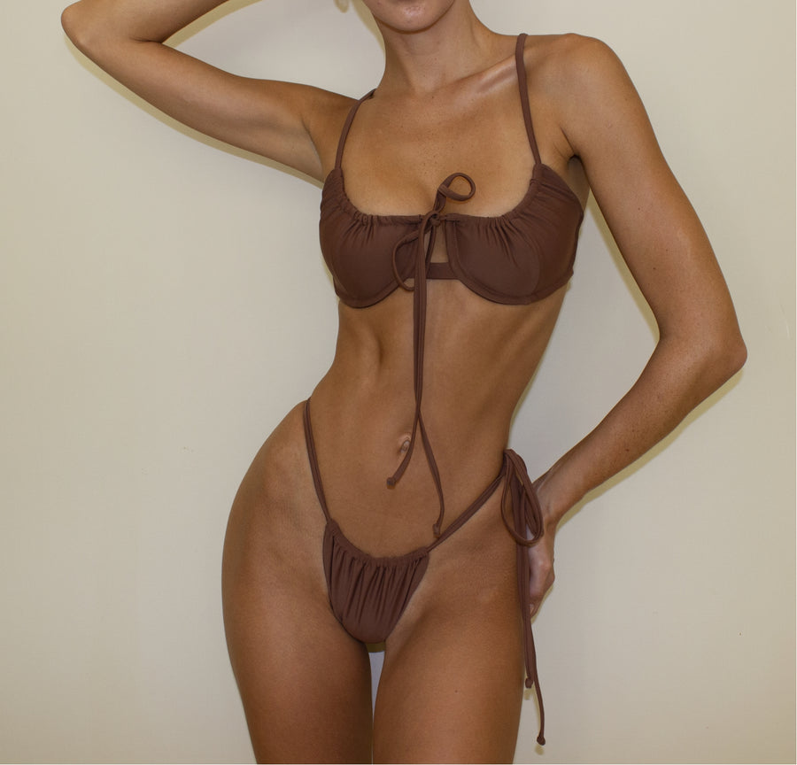DOMINICA BRA TOP IN FAWN