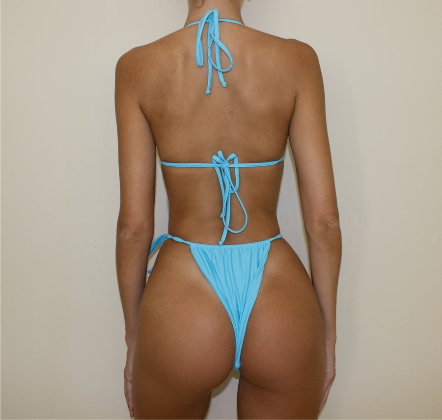 CAYMAN STRING TRI TOP IN AQUA