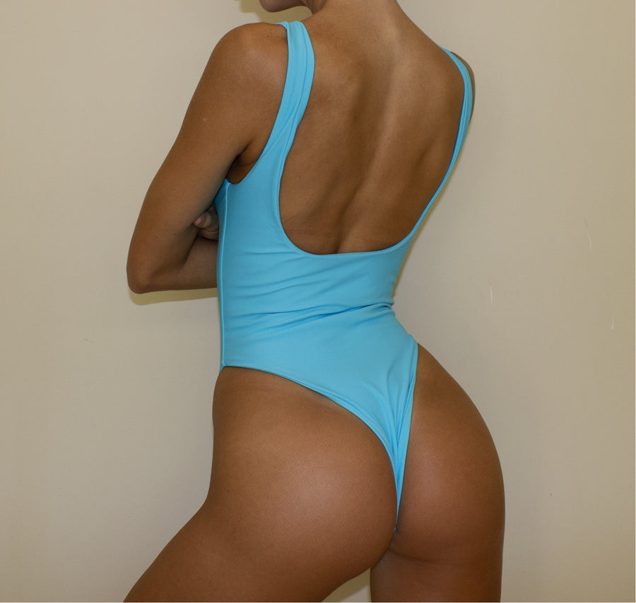 FLORES ONE PIECE IN AQUA