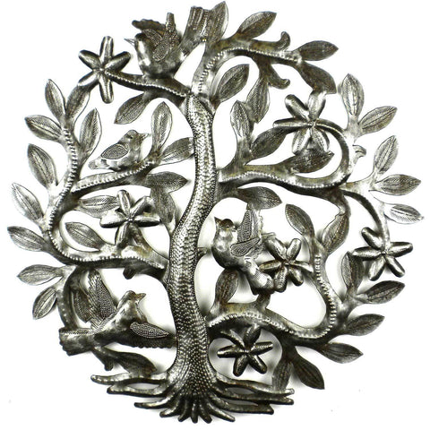 14 inch Tree of Life with Birds Wall Art - Handmade in Haiti