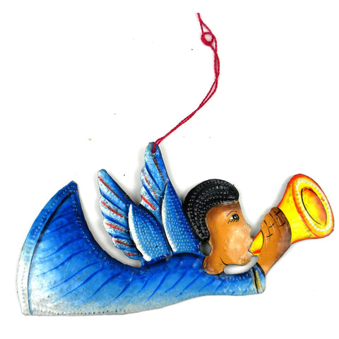 Hand Hand Painted Angel Steel Drum Ornament  - Handmade in Haiti