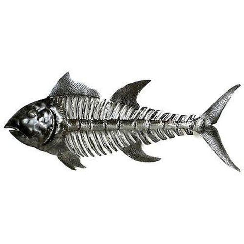 Fish Bones Haitian Recycled Metal Art - Handmade in Haiti
