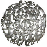 24-inch Rara Band Haitian Recycled Metal Wall Art - Handmade in Haiti