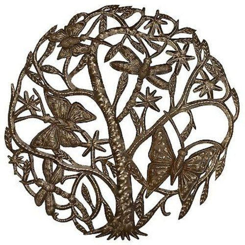 Dancing Butterflies and Dragonflies 24 inch Haitian Recycled Metal Art - Handmade in Haiti