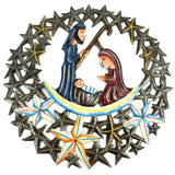 11 inch Nativity in the Stars Haitian Recycled Metal Wall Art - Handmade in Haiti