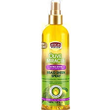 African Pride Olive Miracle Extra Shine Braid Sheen Spray 12 fl. oz.