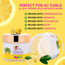 Alikay Naturals Lemongrass Slay & Lay Edge Gel 4 oz.