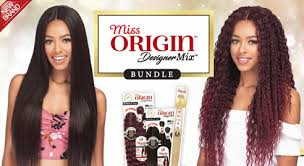 Bobbi Boss Miss Origin Designer Mix Bundle Hair 3 pc plus Lace Closure (Human Hair Blend)