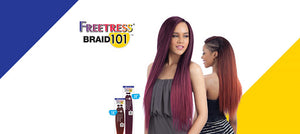 "Shake N Go Freetress  2x Braid 18"" 101 Color OT27"