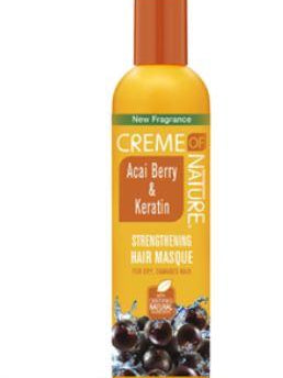 CREME of Nature Acai Berry & Keratin Strengthening Hair Masque 12 oz.