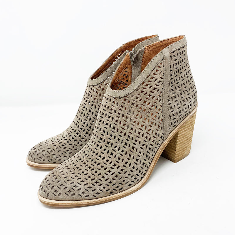Jeffery Campbell Medera Cutout Bootie, Taupe Suede Size 8.5